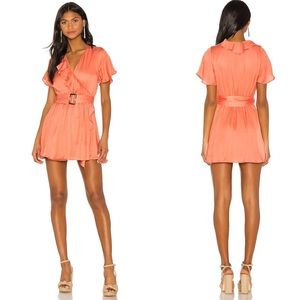 Tularosa Elias Mini Dress Salmon Pink